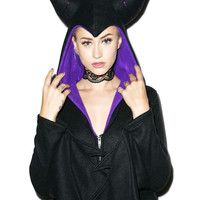 Evil Bitch Hooded Costume BLACK