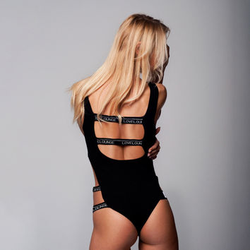 Slim Summer Sexy Alphabet Backless Women's Fashion One-piece [11577849551]