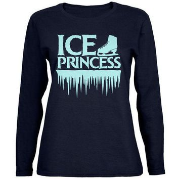 PEAPGQ9 Ice Princess Figure Skating Womens Long Sleeve T Shirt