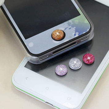 4 Colors White Pink Golden Rose Red Bling Gem Crystal DIY Home Button Sticker for iPhone 3,4,4s,5,ipad 2,3,4,iPod Touch 2,3,4,5