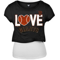 San Francisco Giants - Glitter Logo Girls Juvy T-Shirt w/Tank - Juvy