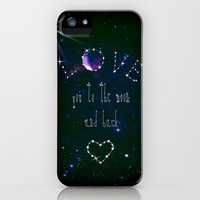 LOVE YOU GALAXY iPhone & iPod Case by Monika Strigel