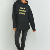 Light Before Dark Good Things Black Hoodie - Urban Outfitters
