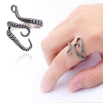 Titanium Steel Octopus Finger Ring