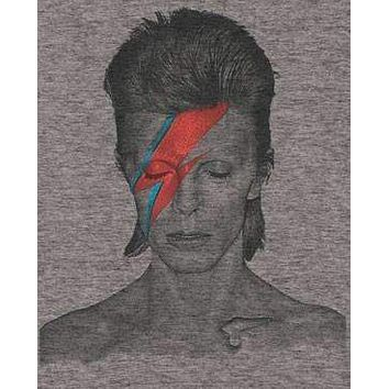Mens David Bowie Tri Blend Distressed Aladdin Sane Tee Shirt