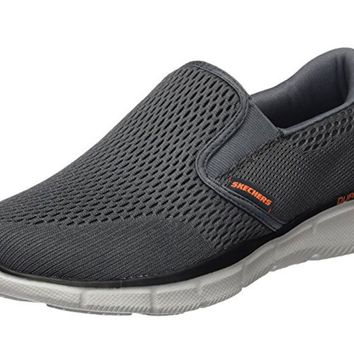 Skechers Charcoal/Orange Equalizer Double Play Slip-On Shoes