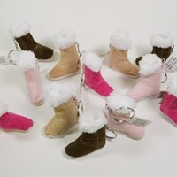 12 Furry Suede Type Fashion Boots Assorted Colors Keychain Girls Party Favors:Amazon:Home & Kitchen
