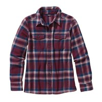 Patagonia Women's Long-Sleeved Fjord Flannel Shirt | Handicraft: Oxblood Red