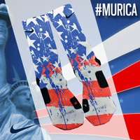 Custom Nike Elite Socks - #Murica | Lacrosse Unlimited