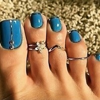 3 Piece Toe Ring Set