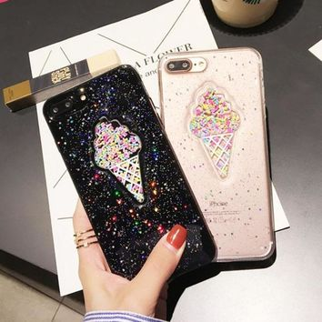 Ice Cream glitter and sprinkles iPhone case
