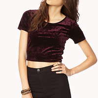 Enchanted Velveteen Crop Top