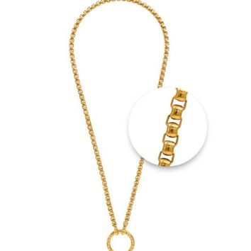 MDIGYW3 Nikki Lissoni Gold Plated 48cm Chain Necklace O-Ring closure N1013G48