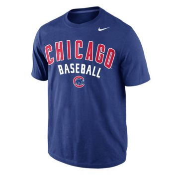 Men's Chicago Cubs Nike Royal Away Practice T-Shirt
