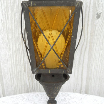 Antique Porch Light Outdoor Light Outdoor Sconce Art Deco Light Metal Light Fixture Rustic Light Fixture Rustic Lighting Farmhouse Light