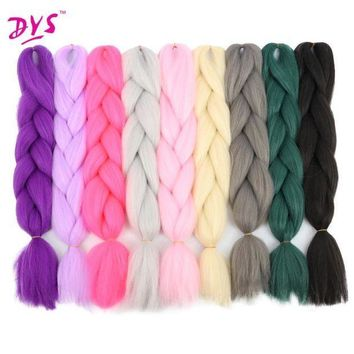 CREY78W Deyngs 24inch Synthetic Braiding Hair Pure Color HighTemperature Kanekalon Jumbo Braid Hair Extensions Crochet Yaki Texture 100g