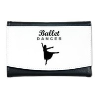 Ballet Dancer Silhouette Mini Wallet