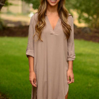 Easy Like Sunday Morning Tunic - Mocha