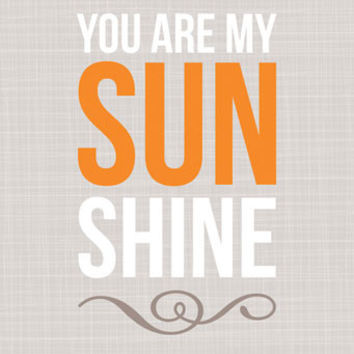 You Are My Sunshine - Tan | Canvas Wall Art