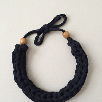 Cute Handmade Crocheted Necklace- Free Shipping To Anywhere :)