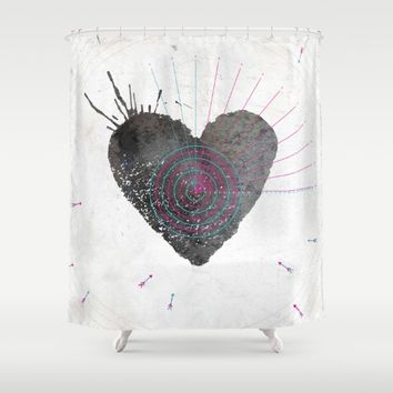 your heart is my target Shower Curtain by Migmig