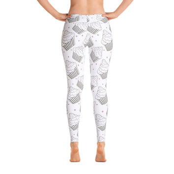 Black/White Cupcake Leggings