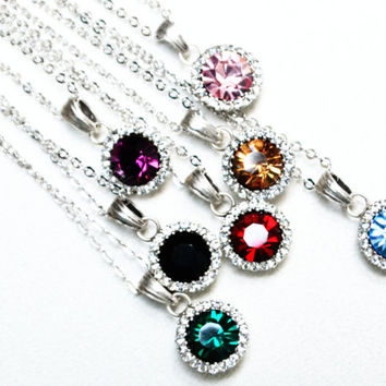 6 bridesmaids necklace art deco rhinestone necklace black emerald burgundy champagne purple something blue pink navy blue oil green