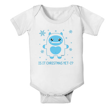 Is It Christmas Yet - Yeti Abominable Snowman Baby Romper Bodysuit