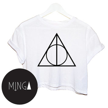 PIRAMID TRIANGLE t shirt top tee crop tank vest paris hipster fashion grunge trendy swag dope cc yolo womens ladies retro vtg geek