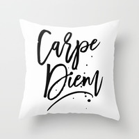 Carpe Diem Throw Pillow by allisone
