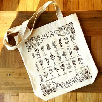 Plant These to Help Save Bees Eco-Friendly Tote Bag *PRE-ORDER*