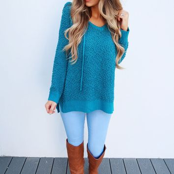 The Snuggle Sweater: Teal