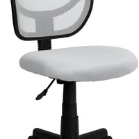 Mid-Back White Mesh Task Chair and Computer Chair
