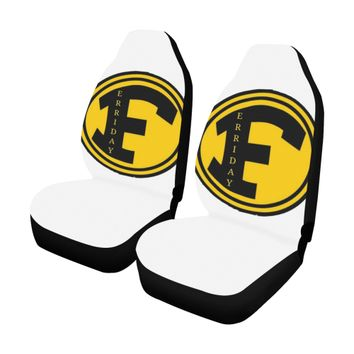 FHS white Car Seat Covers (Set of 2)