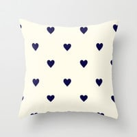 Cute Hearts iPhone Case Throw Pillow by Pink Berry Pattern