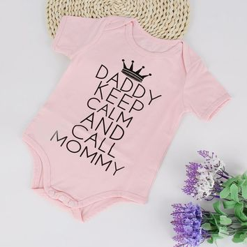 2018 Funny Letter Print Newborn Infant Baby Girl Clothing Cotton Bodysuits Short Sleeve Jumpsuit Kids Clothes Bodysuit Outfit