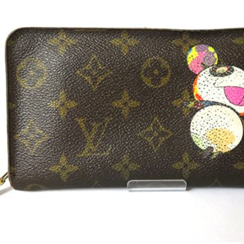 Louis Vuitton x Takashi Murakami Wallet Panda Monogram Authentic Free Shipping