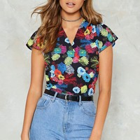 Stayin' Flower Floral Blouse