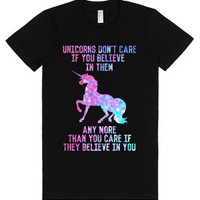 Black T-Shirt | Funny Unicorns Shirts