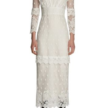 Burberry Lace Midi Dress | Nordstrom