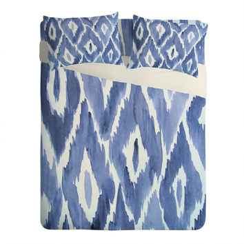 Natalie Baca Painterly Ikat in Indigo Sheet Set Lightweight