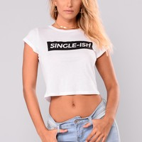 Singleish Graphic Tee - White