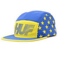 HUF Hell Track Blue & Yellow 5 Panel Hat