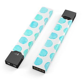 Skin Decal Kit for the Pax JUUL - Blue Watercolor Polka Dots 2