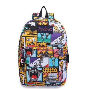 DCCKIX3 On Sale Back To School Comfort Casual College Hot Deal Cartoons Rabbit Anime Stylish Waterproof Canvas Backpack [4962071748]