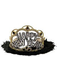 Black, Gold & Silver New Years Tiara