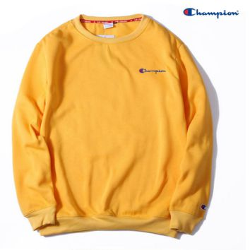 Champion Embroidery round collar sweater thickening sweater Yell bedca7631ae3