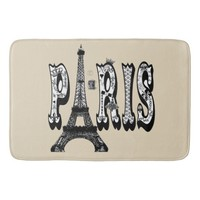 Paris Eiffel Tower. Bathroom Mat