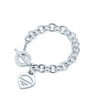 Tiffany & Co. - Return to Tiffany® heart tag toggle bracelet in sterling silver, small.