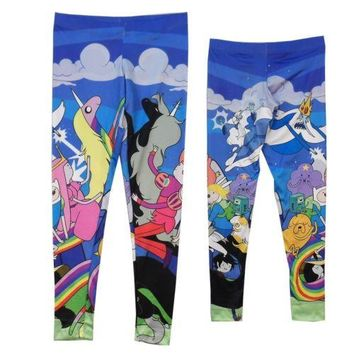 Adventure Time Duality Group Jake And Finn Cast Leggings